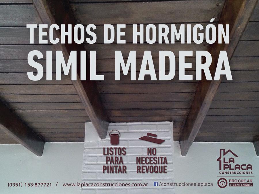 La placa presenta sus techos de hormigon simil madera - Casas de madera y hormigon ...