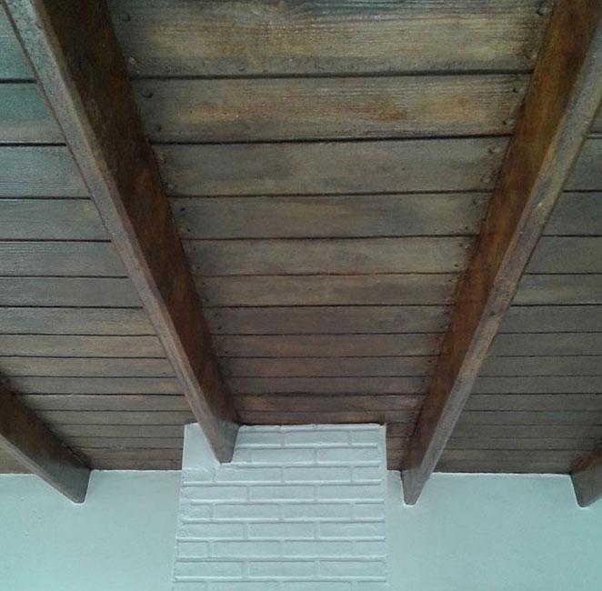 La placa presenta sus techos de hormigon simil madera - Precio techo madera ...