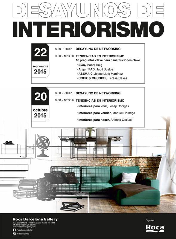 Ciclo de encuentros desayunos de interiorismo arquimaster for Master interiorismo barcelona