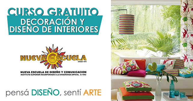 Curso gratuito de decoracion y dise o de interiores for Clases de decoracion de interiores