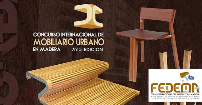 Concurso Internacional de Mobiliario Urbano en Madera