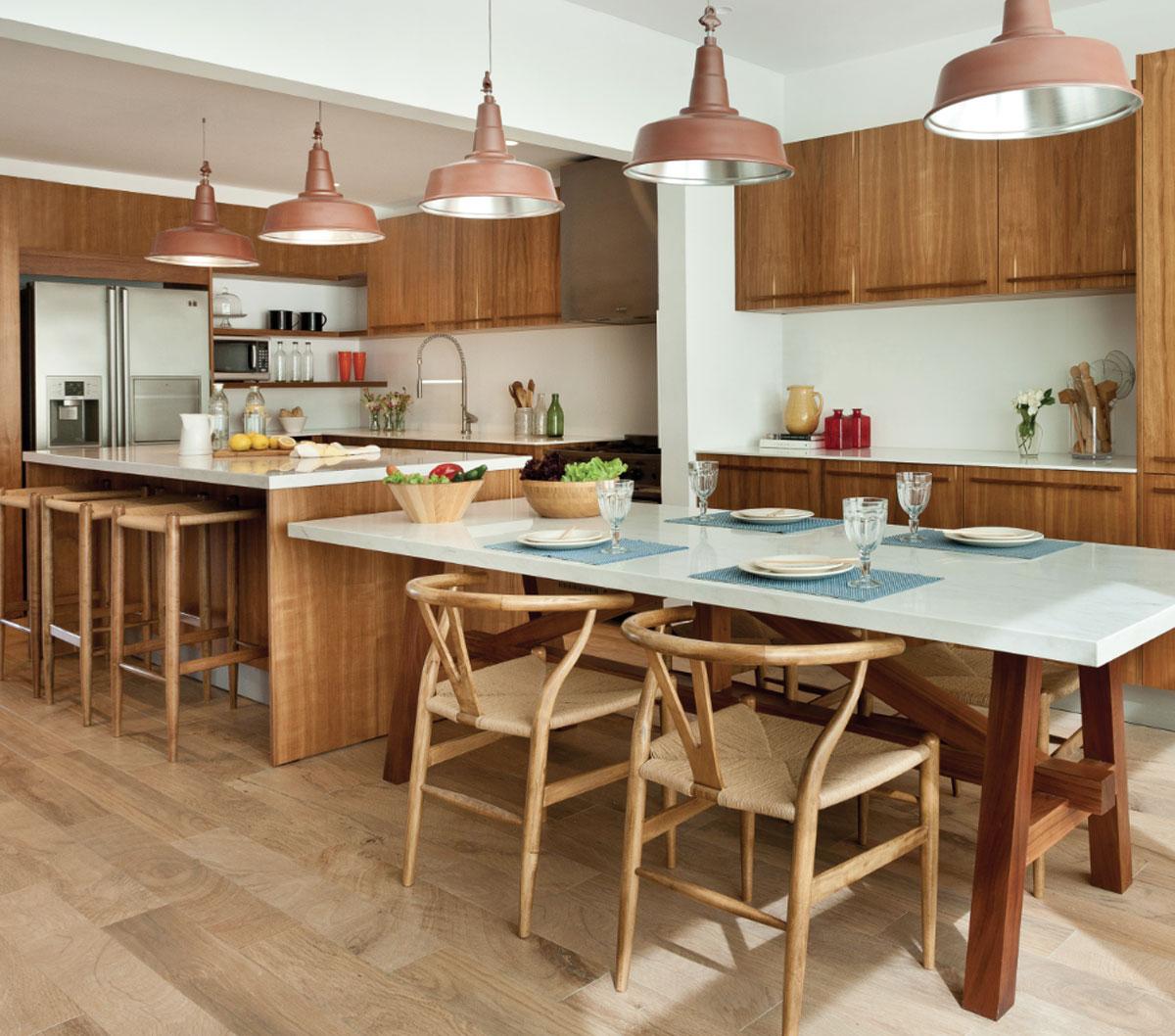 Mesas e islas en las cocinas de hoy arquimaster - Islas de cocina moviles ...