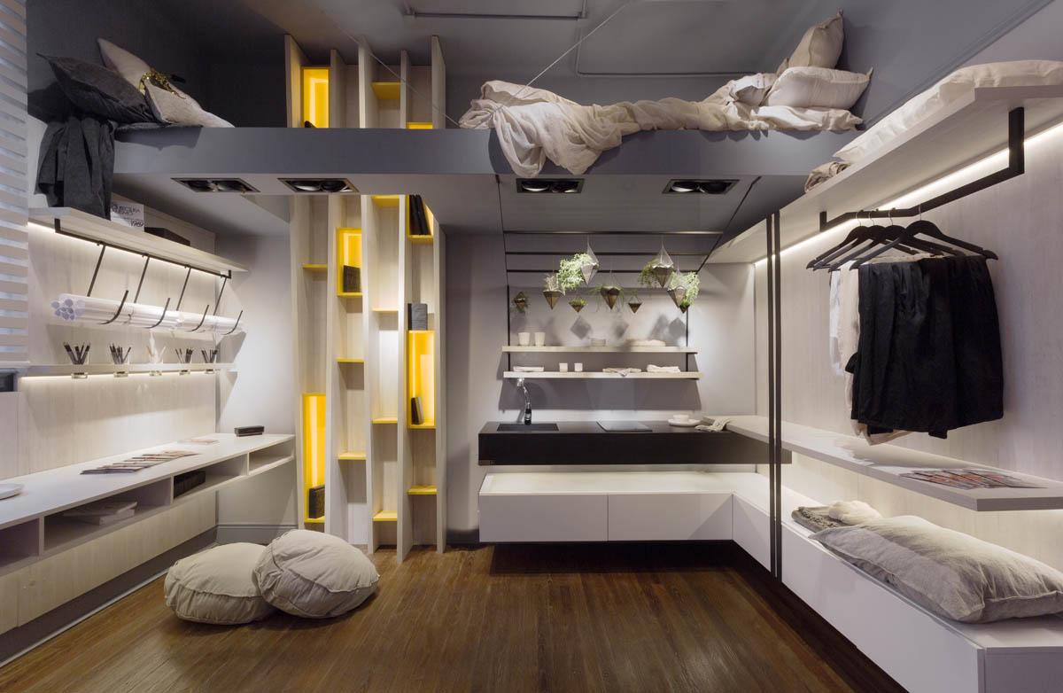 Monoambiente de una estudiante de arquitectura espacio 9 for Decoracion de interiores minimalistas 2016