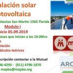 Curso Instalación solar fotovoltaica