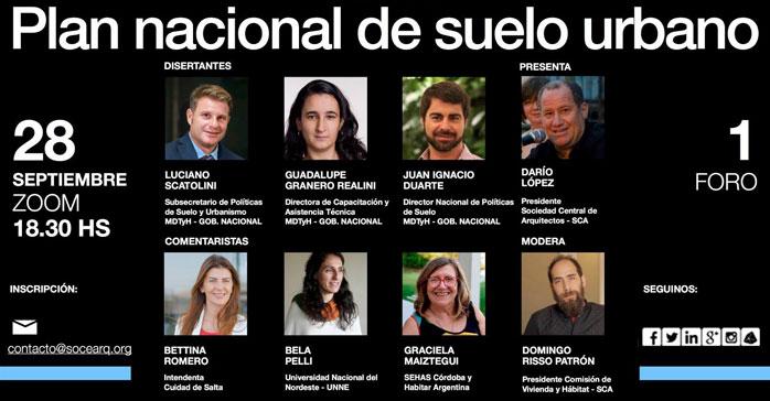 "Conversatorio ""Plan Nacional de Suelo Urbano"" (PNSU)"