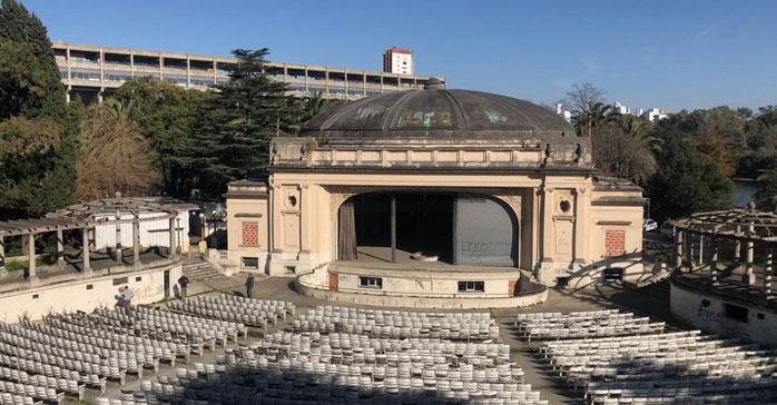 Cómo es el proceso de restauración del mítico Teatro del Lago