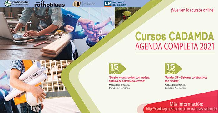 Cursos virtuales 2021 sobre Construcción Sustentable con Madera de CADAMDA