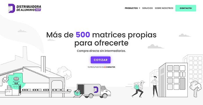 Lanzan DistribuidoraDeAluminio.Net, un nuevo marketplace de productos para clientes b2b