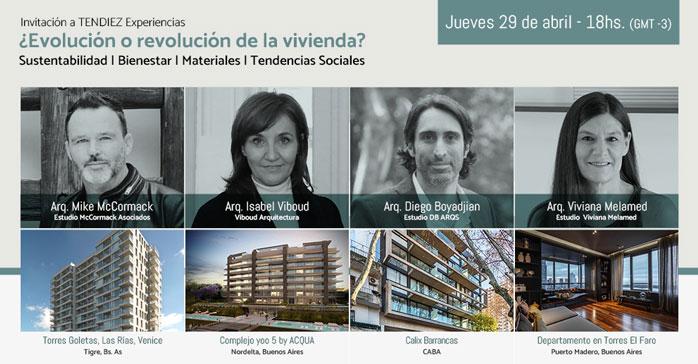 """3º Conferencia Web TENDIEZ Experiencias Ciclo 2021: """"¿Evolución o revolución de la vivienda?"""""""