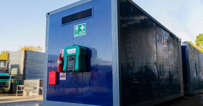 Trenes Argentinos incorporo módulos portátiles para residuos peligrosos desarrollados por Ecosan