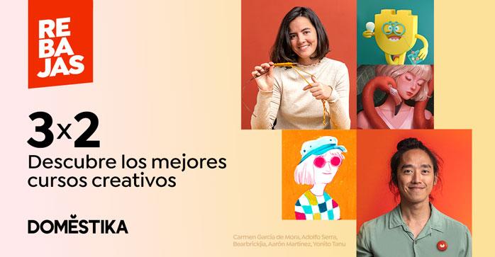 Pack de cursos 3x2: Descubre los mejores cursos creativos